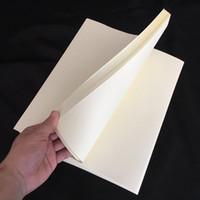 ingrosso a4 carte di dimensioni-carta anti-contraffazione di colore avorio 75% cotone 25% carta lino A4 formato 50 fogli di alta qualità (l170702_l)