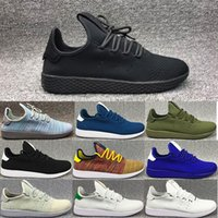 Wholesale High Cut Black Tennis Shoes - High quality Pharrell Williams x Stan Smith Tennis HU Primeknit men women Running Shoes Sneaker NMD Boost Runner sports Shoes EUR 36-45