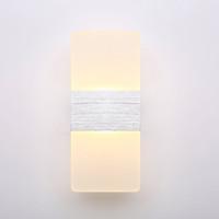 aşağı led led duvar lambası toptan satış-2 ADET Modern Akrilik 12 W LED Duvar Aplikleri Alüminyum Işık Fikstürü Yukarı ve Aşağı Işık Dekoratif Lamba Gece Işık için yolu, Merdiven, Yatak odası