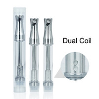 Wholesale Dual Coil E Cig - wholesale price Pyrex Glass tank disposable 510 Cartridge thick oil Vaporizer with BVC Dual Coil for 280mah buttonless e cig Battery