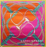 Wholesale Wholesale Designer Silk Scarves Women - Wholesale-90cm*90cm Multicolor Luxury Silk Bohemian Print Square Scarves For Women New 2016 Summer Designer Apparel Accessories