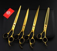 Wholesale Shears Sets - Purple Dragon High Quality Professional Pet Grooming Scissors Set 8 In,Dog Grooming Shears,Cutting & Thinning & Curved Scissors