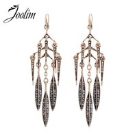Wholesale Antique Chandeliers Cheap - Wholesale Jewelry Fashion Cheap Vintage Leaf Dangle Earring Antique Jewelry Lady Gift