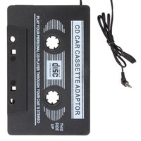 kassettenadapter für auto großhandel-Retro Car Cassette Tape Adapter Reisen Audio Music Converter Adapter 3,5 mm Klinke für iPod / für iPhone / Smartphone / MP3 / CD-Player CEC_809