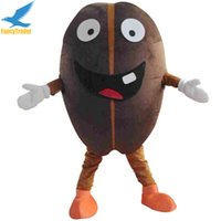 Wholesale Coffee Beans Customs - Fancytrader 2017 Coffee Bean Mascot Costume Fancy Dress Outfit Advertising Prop Adult Size EPE Free Shipping