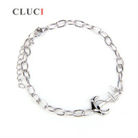 Wholesale bracelet accessories clasp for sale - 1Piece DIY Sterling Silver Bracelet Accessory in Anchor Design AIM Fashion Jewelry Charm Free Shipment