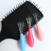 2017 Hot sales Mini Hair Brush Combs Cleaner Magic Handle Tangle Shower Salon Styling Tamer Tool