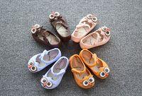 bebek ayakkabı deseni sandaletler toptan satış-2017 Bebek Jöle Ayakkabı Kız Sandalet Mini SED Çocuklar Baykuş Desen Yaz Karikatür Prenses Çocuk Ayakkabı ile