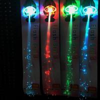 Wholesale Asian Wholesale Led - Colorful LED braided fiber braid LED flash butterfly wing bar Disco dance headdress headdress Angel