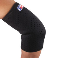 Wholesale promote sports - Wholesale- 2 PCS Sports Safety Breathable Elbow Protection Elastic Tennis Elbow Support Brace Promote Muscle Recovery Elbow Pads Sleeve