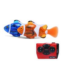 Wholesale Motor Fishing - Wholesale-Create Toys 3316 Mini RC Clownfish Remote Control Infrared Fish Radio Toy Blue Orange