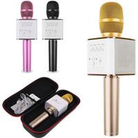Wholesale Karaoke Magic Sing - Magic Q9 Bluetooth Microphone Speaker Q9 Karaoke Singing Record Player KTV Wireless Portable Microphone for Phone7 plus Sams S7 Edge LG