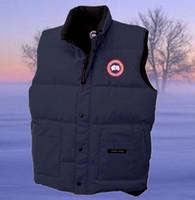 Wholesale Short Wind Coat - winter down vest Canada warm cold wind waterproof outdoor for women and men's down vest Sleeveless coat keep warm down waistcoat