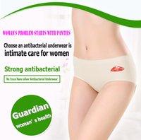 Wholesale Panties Lips - WHOLESALE WOMAN UNDERWEAR FREE 2 COLORS WHITE SKIN BLACK Panties NANO SILVER ION LIPS COMFORTABLE BREATHE ANTILBACTERIAL HEALTH CARE SOFT