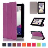 Wholesale leather case for kindle fire - PU Leather Cover for Kindle Fire 7 2015 Tablet Case Flip Leather Stand Case for New Kindle Fire 7 7.0 inch