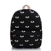 Wholesale Wholesale Bags For Teens - Wholesale- Harajuku Good Quality Black Eyes Backpack Fashion Campus School Bag For Teens Waterproof Travel Daypacks