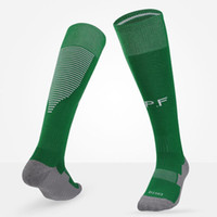 Wholesale Wholesale Soccer Sweats - Euro Cup Adult Soccer Sock 2016-17 Top Thai quality National team Football socks Absorb sweat thickened Stockings Cheap Men sports