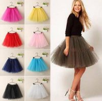 Wholesale Ladies Yellow Mini Skirts - Ladies Girls Women Adult Tutu Skirts Mini Ballet Princess Fancy Dress Party