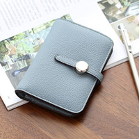 Wholesale Cluth Bags - 2017 Hot Selling ! Hasp Short Women Wallet Quality PU Money Bags Buckle Handbags Card Holders Female Cluth bag