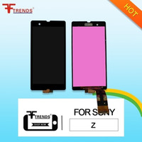 Wholesale sony aqua for sale - Group buy High Quality A for Sony Z Z1 M4 Aqua LCD Display Touch Screen Digitizer with Frame Assembly Black White Tested Dropshipping