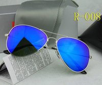 Wholesale High Fashion Vintage Wholesale - Wholesale 20pcs lot High Quality Brand Designer Fashion Mirror Sunglasses For Men Women's UV400 Protection Vintage Sport Driving Sun glasses