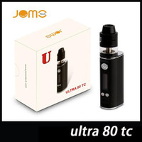 Wholesale Ego Ce4 Hookah - 100% Original JomoTech Ultra 80 TC Vaporizer Kit 2600mAh RDTA 2ml Top Filling Tank Elektronik Sigara Hookah Vape Pen VS Ego ce4 DHL