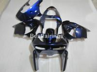 mavi 1998 zx9r toptan satış-Kawasaki Ninja ZX9R 98 99 için yüksek kaliteli vücut parçaları kaporta kiti derin mavi siyah motosiklet fairings seti ZX9R 1998 1999 TY35