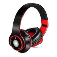 bilgisayar için kablosuz bluetooth mikrofonu toptan satış-Yeni Kablosuz Kulaklıklar Bluetooth Kulaklık Kulaklık Ile bilgisayar kulaklık spor MP3 Çalar Için Mikrofon Düşük Bas kulaklık