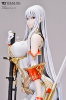 Wholesale Resin Military Figures - 1 4 scale white color Resin GK Selvaria`Bles Soldier Model Figure Statue Military Soldier Anime PU GK Prototype Sculpture Kits