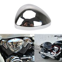 Wholesale Motorcycle Chrome Air Cleaner - 1x Moto Chrome Air Cleaner Filter Cover Cap For SUZUKI BOULEVARD M109 M109R INTRUDER VZR1800 Motorcycle Accessories C 5