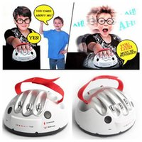 Wholesale Electric Shock Games - Polygraph Shocking Liar Micro Electric Shock Lie Detector Truth Game Toy High Low Shock Setting Indicate Fact or Porky CCA6528 30pcs