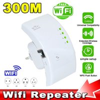 Wholesale Mobile Phone Repeater Booster - Wireless WiFi Repeater Extender 300Mbps Wi-Fi Extender IEEE 802.11n b g Network Router Range Booster For Mobile phone Tablet PC
