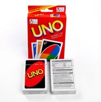 Wholesale Poker Board Games - 120 Set Entertainment Card Games UNO cards Fun Poker Playing Cards Family Funny Board Games Standard DHL Free Shipping