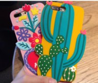 Wholesale skull silicone cases for sale - Group buy mexico cactus flower heart skull silicone case hola amour cartoon soft silicon cover for iPhone S plus PLUS