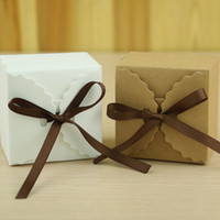 Wholesale Gift Box Decoration Vintage - Decorative Gift Box Kraft Paper European Vintage DIY Wave Candy Boxes Gift High Quality Wedding Decorations