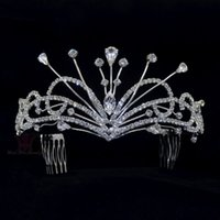 Wholesale Bridal Headress Accessories - Headress Rhinestone Tiaras Crowns High Grade quality Guarantee For Woman Princess Bridal Wedding Hair accessories Party Prom 02086
