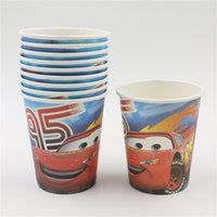 Wholesale Wholesale Bamboo Suppliers - Wholesale-movie cars 10pcs lot disposal paper cups glasses kids boys girls favors festival birthday party theme party suppliers 029