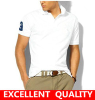 Wholesale High Quality Polo Shirts Wholesale - Free shipping 2017 Brand Men's Polo short sleeve high quality Shirt Casual Cotton Men business Polo Shirts male Big Horse Embroidery Polo