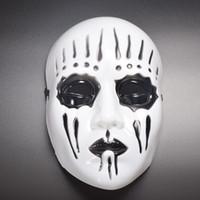 bronz kostüm toptan satış-Slipknot Joey cosplay maske beyaz cadılar bayramı bronz slipknot maske korku erkek parti maskesi masquerade kostüm maskeleri