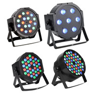 DMX512 Led Par Lights RGB Éclairage de scène 54W 18X3W Led Lights For Party KTV Disco DJ Éclairage éclairage de club flash