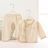 Wholesale japan style kimono - 2017 Newborn Clothes Gift Children Sleepwear Boys Pyjamas Kimono Japan Costumes 100% Cotton Girls Pajamas Long Tee Shirt trouser Soft