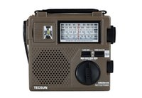 Wholesale Emergency Radios - Wholesale-TECSUN GREEN-88 GREEN88 FM AM SW full-band economical environmental emergency radio with light Dynamo Hand Cranking Rechargeable