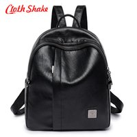 Nuevo Pretty Style Soft Fabrics PU Leather Mujeres Black Backpack Moda Mujer Casual Girls School Bolsas de hombro para Lady Backpack