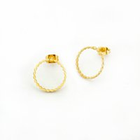 Wholesale Rope Studs - Wholesale 10Pcs lot 2017 Special Offer Fashion Simple Circle 18K Gold Earrings For Women Jewelry Twisted Rope Round Stud Earrings 925 Silver