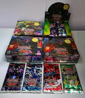 Wholesale English Cartoon For Children - Cartoon YuGiOh English Cards High Quality Kids Yugioh Card Toy The Latest Anime Yu Gi Oh Duel Cards for Children Kids 216PCS