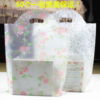 Wholesale Wholesale Clear Plastic Christmas Bags - 100pcs 20*25cm Small Rose Flower Frosted Plastic Bag , Shopping Jewelry Packaging Plastic Christmas Wedding Transparent Gift Bags thicken ba