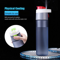 Plastic CE / EU Eco-Friendly Insulated Leak Proof Drink Bottle Sports Spray Water Bottle With Spray Mist For Kids Students Protable Plastic Water Cooling