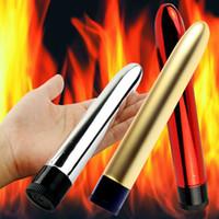 metal g spot vibratör toptan satış-Su geçirmez Multispeed G-spot Vibratör Masajı Yapay Penis Mastürbasyon Vibe Seks Oyuncakları # T701