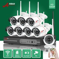 DHL ANRAN LIBRE Plug and Play 8CH 1080P HDMI WIFI NVR 24IR impermeable al aire libre 2MP cámara inalámbrica IP CCTV Video Security Surveillance System
