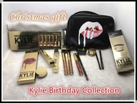 Wholesale Gift Bags Mixed Sizing - In stock Kylie Gift Box Golden Box Gloss Suits Makeup Bag Birthday Collection Cosmetics Birthday Bundle Bronze Kyliner Kylie Jenner Holiday